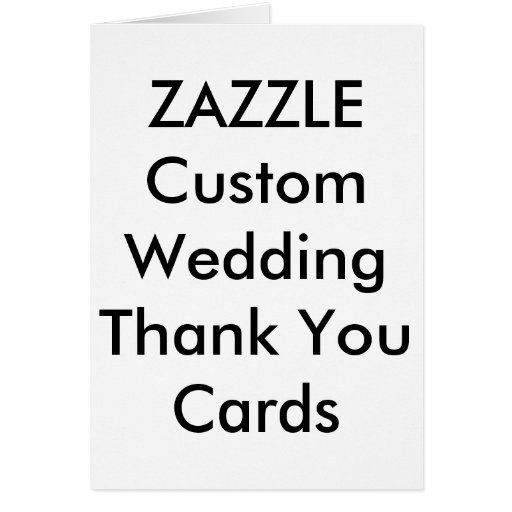 Custom Wedding Thank You Cards  Zazzle
