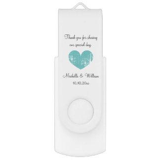 Custom wedding thank you party favor USB drive