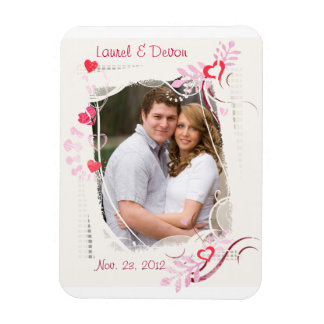 Custom Wedding / Valentine's Day Photo Magnet