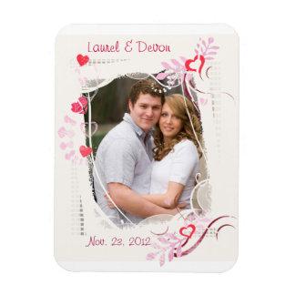 Custom Wedding / Valentine's Day Photo Magnet