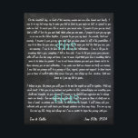 "Custom Wedding Vows on Canvas<br><div class=""desc"">A constant reminder of the vows that you made on your special day. Customizable size,  color etc. A great wedding,  anniversary or just because gift!</div>"