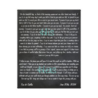 Custom Wedding Vows on Canvas