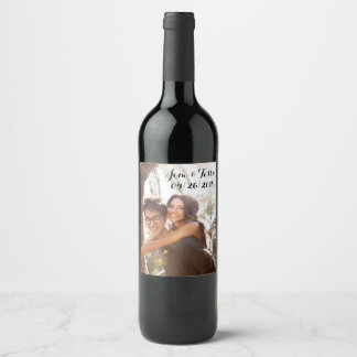 Custom Wedding Wine Label