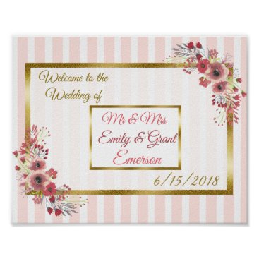 Art Themed Custom Welcome to the Wedding of (Add Names) Poster