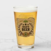 Custom Western Beer Glass