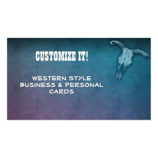 CUSTOM Western style business & Personal Cards Double