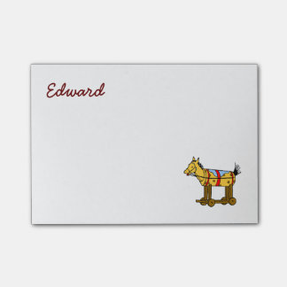 Custom Western Vintage Toy Horse Stickies Post-it® Notes