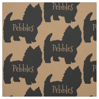Custom Westie Dog or West Highland White Terrier Fabric