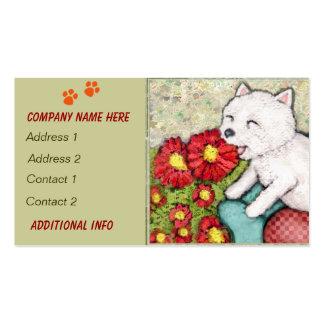 Custom Westie Dog / Pet Store Business Cards