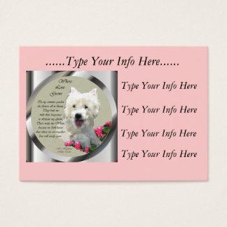 Custom Westie Profile Cards