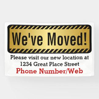 Custom We've Moved Moving Business Sign Banner
