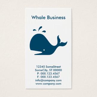 custom whale business business card