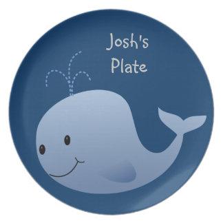 Custom Whale Kid's Dinner Plate