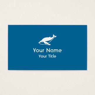 Custom Whale symbol blue business cards