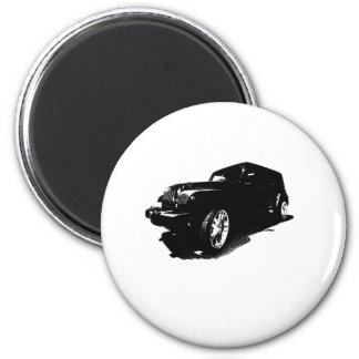 Custom Wheels Black Car T-shirts Gifts 2 Inch Round Magnet