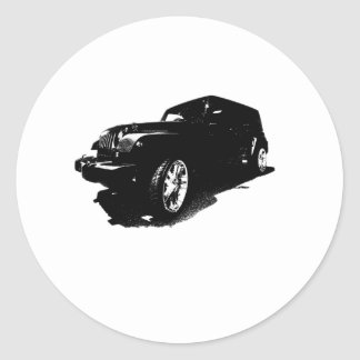 Custom Wheels Black Car T-shirts Gifts Classic Round Sticker