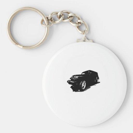 Custom Wheels Black Car T-shirts Gifts Keychain