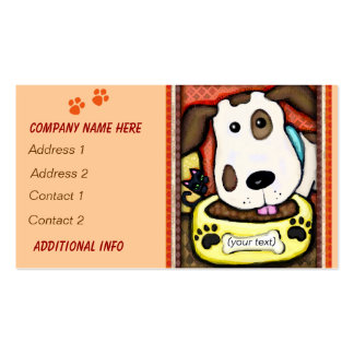 Custom Whimsical Dog / Pet Store Business Cards