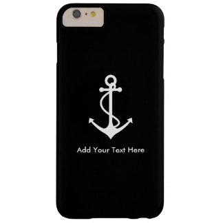 Custom White Anchor Add Your Own Text Barely There iPhone 6 Plus Case