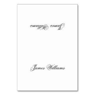 Custom White Black Simple Place Setting Cards