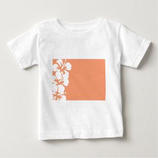 Custom White Hibiscus Design Baby T-Shirt