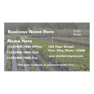 (Custom) White Lettering Nursery and Garden Supply Business Card
