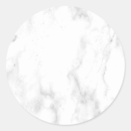 Custom White Marble Modern Elegant Blank Template Classic Round Sticker