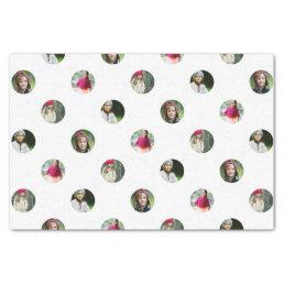 Custom White Photo Dot Tissue Paper