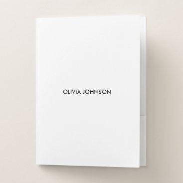 Beach Themed Custom White Pocket Folder