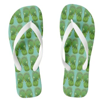 Custom Wide Strap Customized Flip Flops by creativeconceptss at Zazzle