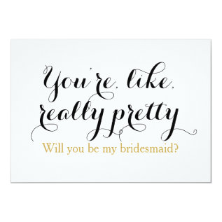 Custom Will You Be My Bridesmaid Funny Wedding Card at Zazzle