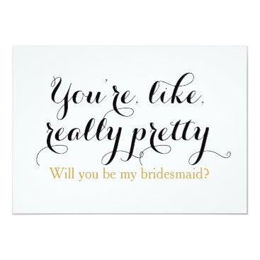 iBella Custom will you be my bridesmaid funny wedding card