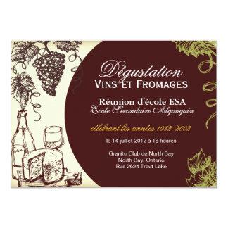 "Custom Wine and Cheese Invitation - French 5"" X 7"" Invitation Card"