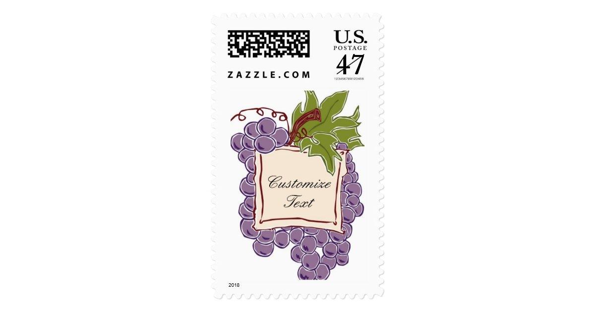 Custom Wine Label Wedding Invitation Postage Stamp
