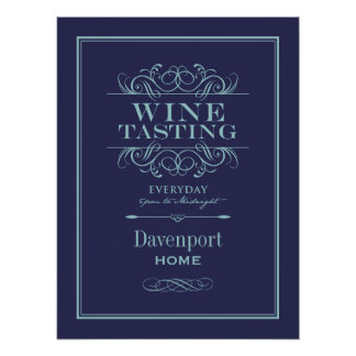 Custom Wine Tasting Art Print - Home Decor