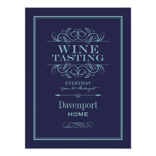Custom wine tasting art print home decor zazzle for Personalized home decor