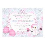 "Custom Winter One-derland 1st Birthday Invitation 5"" X 7"" Invitation Card"