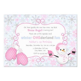Custom Winter One-derland 1st Birthday Invitation
