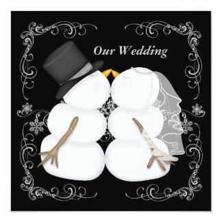 "Custom Winter Wedding Invitation 5.25"" Square Invitation Card"