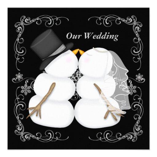 Custom Winter Wedding Invitation 525 Square Invitation Card