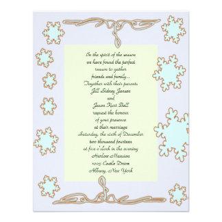 Custom Winter Wedding Invitation