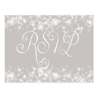 Custom Winter Wedding RSVP Card