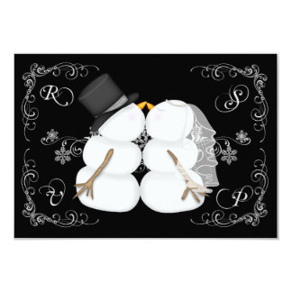 "Custom Winter Wedding RSVP Card 3.5"" X 5"" Invitation Card"