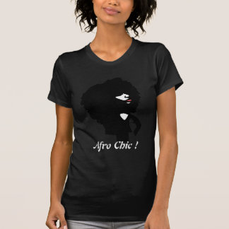 Custom woman silhouette with afro natural hair T-Shirt