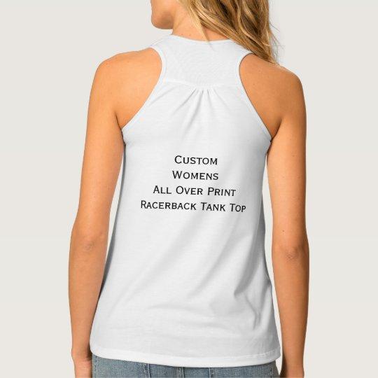 4193cf49976c4d Custom Womens All Over Print Racerback Tank Top