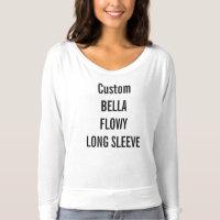 Custom Women's Bella Flowy Long Sleeve T-Shirt