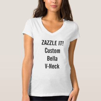 Custom Women's Bella V-Neck Jersey T-shirt Blank