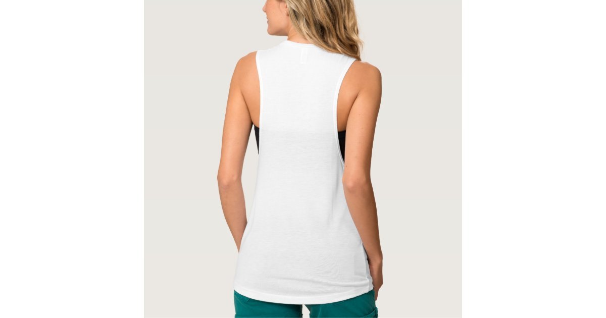 91cd6a412c Custom Womens Flowy Loose Fit Muscle Tank Top Tee | Zazzle.com