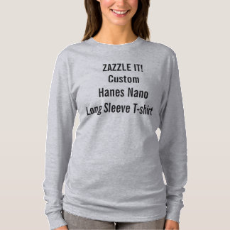 Custom Women's Hanes Nano Long Sleeve T-Shirt