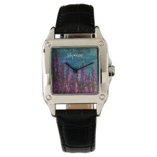 Custom Women's Perfect Square Black Leather Strap Wrist Watch